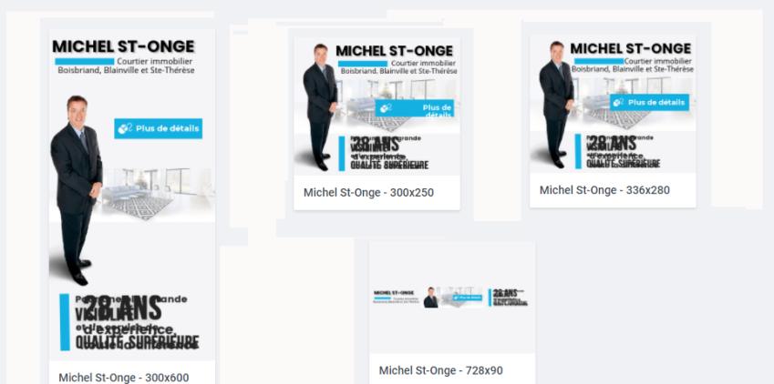Bannière HTML 5 – Michel St Onge